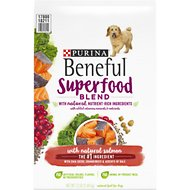 Purina Beneful Superfood Blend With Salmon Dry Dog Food, 12-lb bag