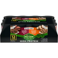 Dog Chow High Protein Variety Pack Chicken & Beef in Savory Gravy Canned Dog Food, 13-oz, case of 12