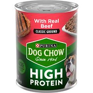 Dog Chow High Protein Beef Classic Ground Canned Dog Food, 13-oz, case of 12