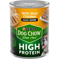 Dog Chow High Protein Chicken Classic Ground Canned Dog Food, 13-oz, case of 12