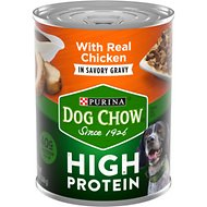 Dog Chow High Protein Chicken in Savory Gravy Canned Dog Food, 13-oz, case of 12