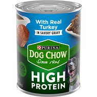 Dog Chow High Protein Turkey in Savory Gravy Canned Dog Food, 13-oz, case of 12