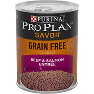 Purina Pro Plan Savor Classic Beef & Salmon Entree Grain-Free Canned Dog Food, 13-oz, case of 12