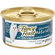 Fancy Feast Gourmet Naturals Tuna Recipe in Gravy Canned Cat Food