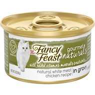 Fancy Feast Gourmet Naturals White Meat Chicken Recipe in Gravy Canned Cat Food, 3-oz, case of 12