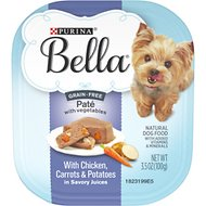 Purina Bella Grain-Free with Chicken, Carrots & Potatoes Wet Dog Food, 3.5-oz tray, case of 12