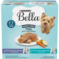 Purina Bella Grain-Free with Chicken & Lamb Variety Pack Wet Dog Food, 3.5-oz tray, case of 12