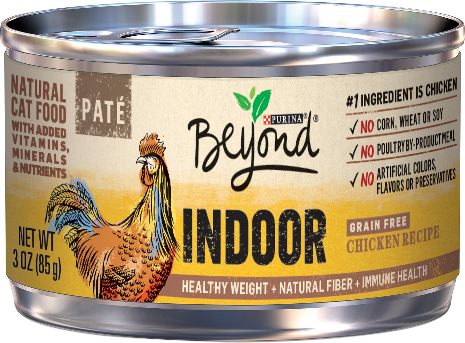 Purina Beyond Cat Food >> Purina Beyond Indoor Grain Free Chicken Recipe Canned Cat Food 3 Oz Case Of 12