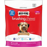 Milk-Bone Original Brushing Chews Daily Dental Dog Treats, Mini, 48 count