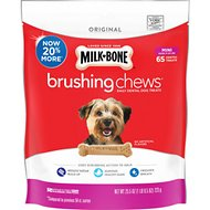 Milk-Bone Original Brushing Chews Daily Dental Dog Treats, Mini, 65 count