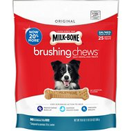 Milk-Bone Original Brushing Chews Daily Dental Dog Treats, Small/Medium, 25 count