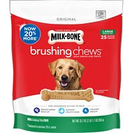 Milk-Bone Original Brushing Chews Daily Dental Dog Treats, Large, 25 count