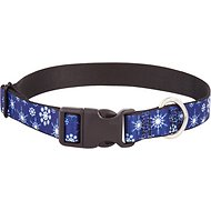 Buckle-Down Snowflakes Dog Collar, Large