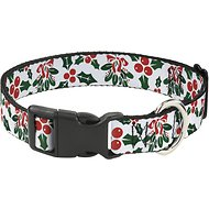 Buckle-Down Holly & Mistletoe Dog Collar, Small