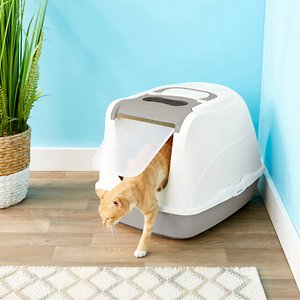 Frisco Flip Top Hooded Cat Litter Box