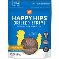 Happy Hips Grilled Strips Chicken Recipe Grain-Free Dog Treats, 12-oz bag