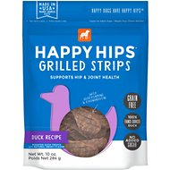 Happy Hips Grilled Strips Duck Recipe Grain-Free Dog Treats, 10-oz bag