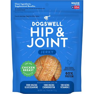 Dogswell Jerky Hip & Joint Chicken Recipe Grain-Free Dog Treats, 4-oz bag