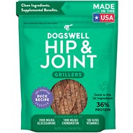 Dogswell Grillers Hip & Joint Duck Recipe Grain-Free Dog Treats, 10-oz bag