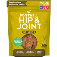 Dogswell Grillers Hip & Joint Chicken Recipe Grain-Free Dog Treats, 12-oz bag