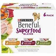 Purina Beneful Superfood Blend in Sauce Variety Pack Wet Dog Food, 9-oz tub, case of 6
