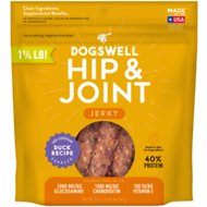 Dogswell Jerky Hip & Joint Duck Recipe Grain-Free Dog Treats, 20-oz bag