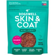 Dogswell Jerky Minis Skin & Coat Salmon Recipe Grain-Free Dog Treats, 4-oz bag