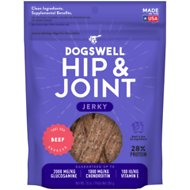 Dogswell Jerky Hip & Joint Beef Recipe Grain-Free Dog Treats, 10-oz bag