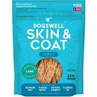 Dogswell Jerky Skin & Coat Lamb Recipe Grain-Free Dog Treats, 10-oz bag