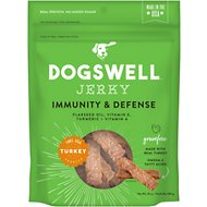 Dogswell Jerky Immunity & Defense Turkey Recipe Grain-Free Dog Treats, 10-oz bag