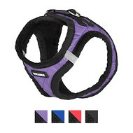 Best Pet Supplies Voyager Padded Faux Leather Dog Harness, Purple, Small