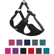 Best Pet Supplies Voyager 3M Reflective Adjustable Mesh Dog Harness, Black, Large