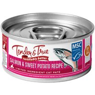 Tender & True Salmon & Sweet Potato Recipe Grain-Free Wet Cat Food, 5.5-oz, case of 24