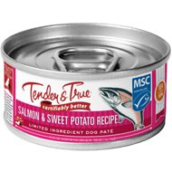 Tender & True Salmon & Sweet Potato Recipe Grain-Free Wet Dog Food, 5.5-oz, case of 24
