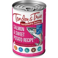 Tender & True Salmon & Sweet Potato Recipe Grain-Free Wet Dog Food, 13.2-oz, case of 12