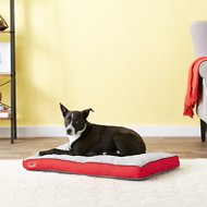 Brindle Soft Memory Foam Dog Bed, Red, 34 x 22 in