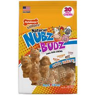 Nylabone Natural Nubz Budz Edible Dog Chews, Small, 20 count