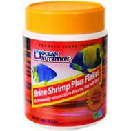 Ocean Nutrition Brine Shrimp Plus Flakes Fish Food, 1.2-oz jar