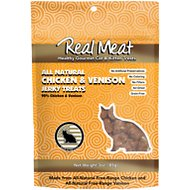 The Real Meat Company 95% Chicken & Venison Jerky Bites Cat Treats, 3-oz bag
