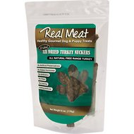 The Real Meat Company Turkey Neckers Air-Dried Dog Treats, 6-oz bag