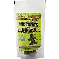 The Real Meat Company Beef & Oatmeal Recipe with Spinach Alien Invasion Dog Treats, 4-oz bag