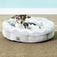 Precision Pet Products SnooZZy Round Shearling Dog Bed, 21-in