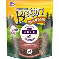 Beggin' Adventures Venison Flavor Dog Treats, 23.5-oz bag