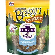 Beggin' Adventures Turkey, Duck, & Quail Flavor Dog Treats, 23.5-oz bag