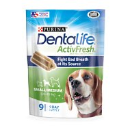 DentaLife ActivFresh Daily Oral Care Small/Medium Dog Treats, 9 count