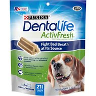 DentaLife ActivFresh Daily Oral Care Small/Medium Dental Dog Treats, 21 count