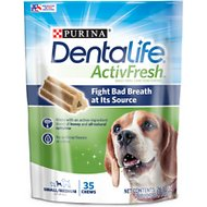 DentaLife ActivFresh Daily Oral Care Small/Medium Dental Dog Treats, 35 count