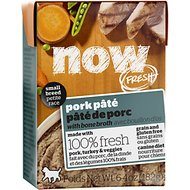 Now Fresh Grain-Free Small Breed Pork Paté Wet Dog Food, 6.4-oz, case of 24