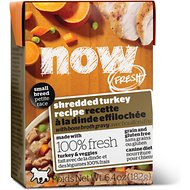 Now Fresh Grain-Free Small Breed Shredded Turkey Recipe Wet Dog Food, 6.4-oz, case of 24