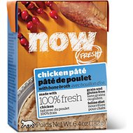 Now Fresh Grain-Free Chicken Paté Wet Cat Food, 6.4-oz, case of 24